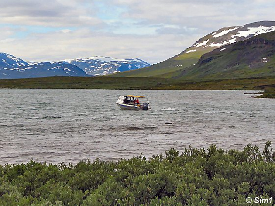 The boat to Alesjaure