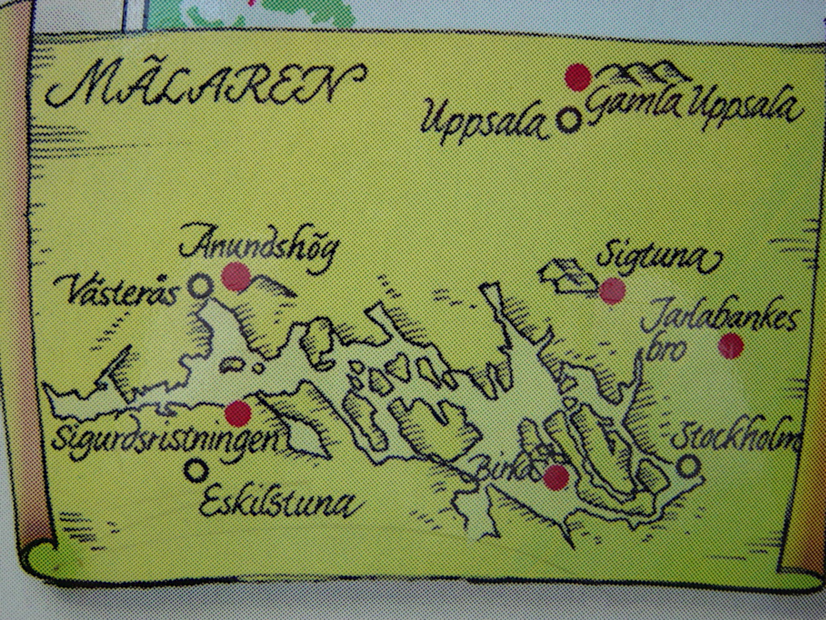 Map of Viking routes