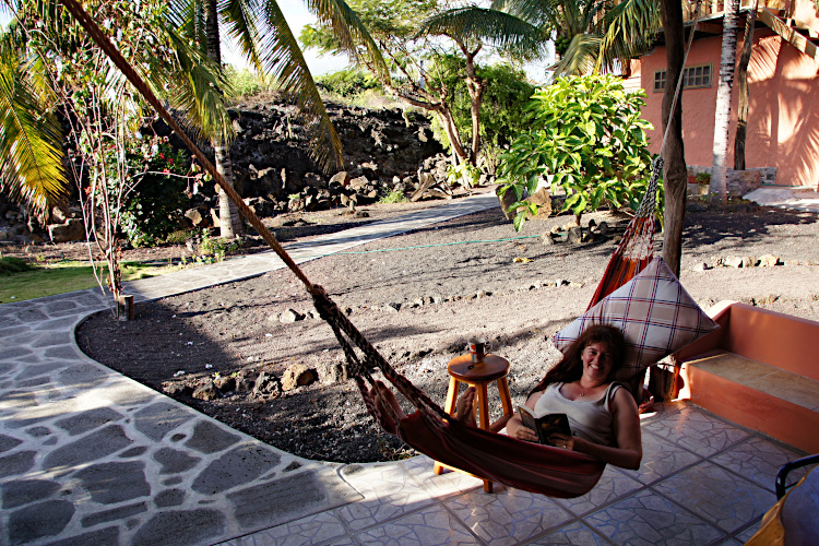 Lazy in the hammock