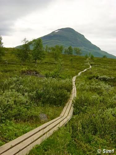The Kungsleden between Abiskojaure and Alesjaure