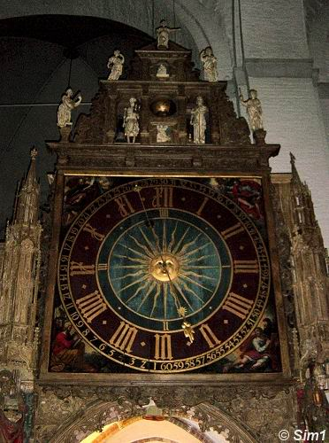 The astronomical clock in the cathedral