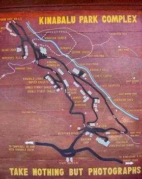 Map Kinabalu Park Complex