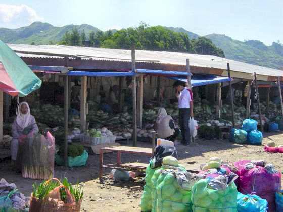 The market at Kundasang
