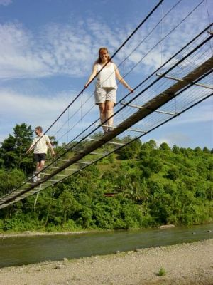 Suspension bridge at Matupang village