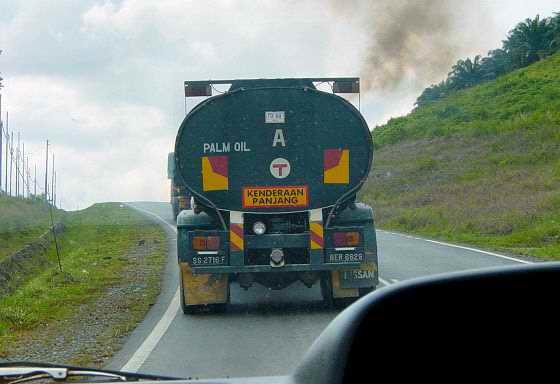 Palmoil truck