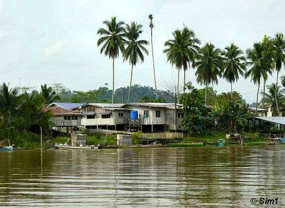 The village of Sukau