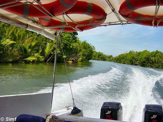 Racing towards Libaran Island