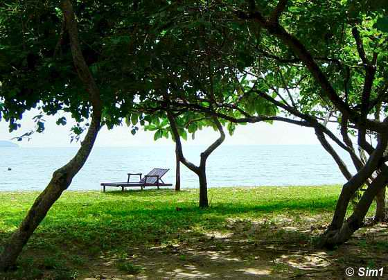 A relaxing start of the day at Libaran Island