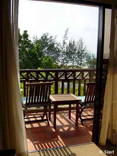 Lazy on the balcony