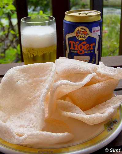 Keropok and beer