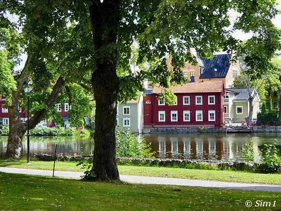 The river Eskilstunaån from the Fors Kyrka