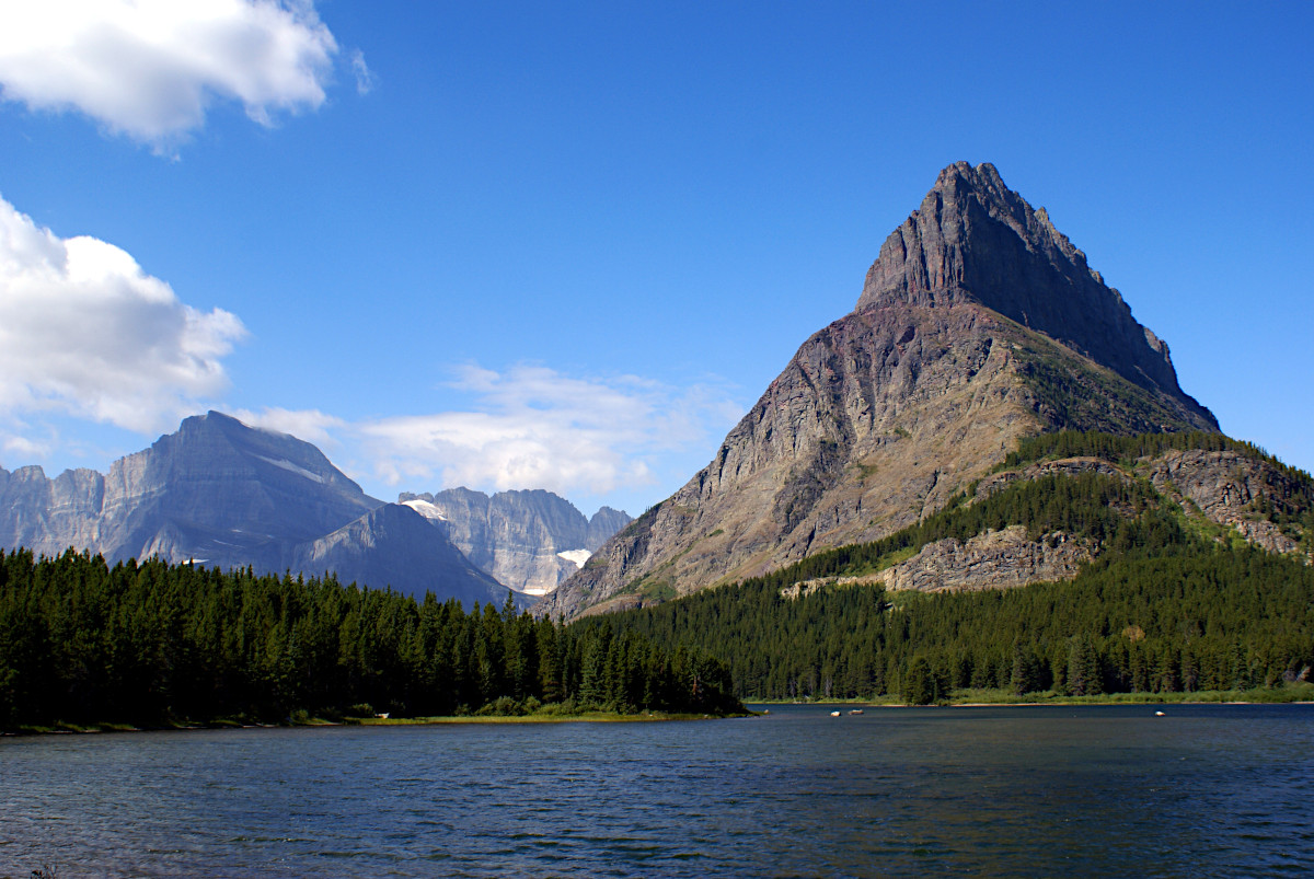 Grinnell Point from the shore of Swiftcurrent Lake, Glacier National Park