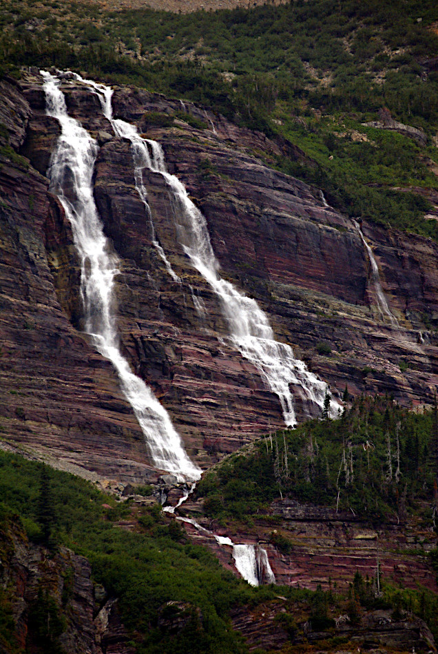 The Grinnell Falls, Glacier National Park