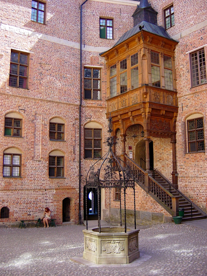 The courtyard Gripsholm castle