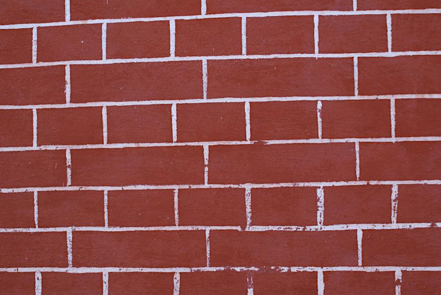 A painted brick wall
