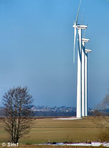 Wind turbines at Rök