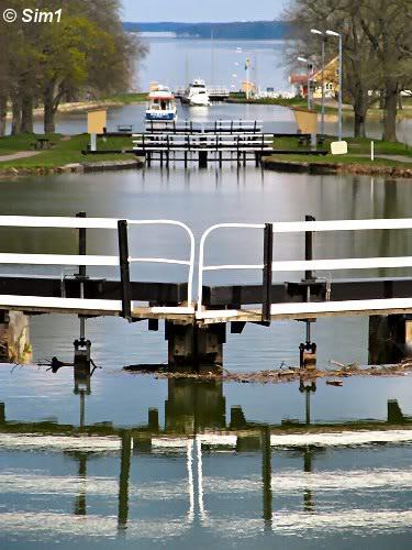 Locks at the Göta Canal at Berg