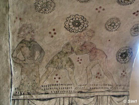 Frescos in the Kaga Church