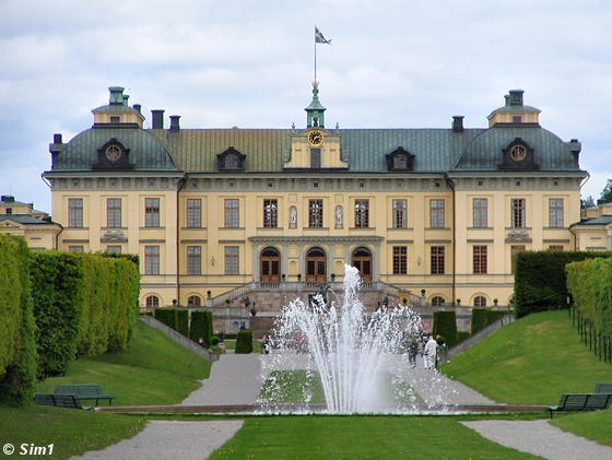 Drottningholm castle in Stockholm