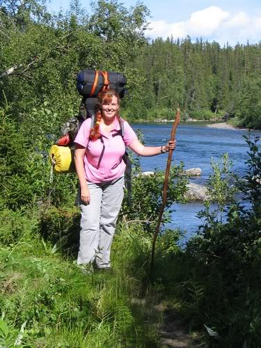 Hiking from Kvikkjokk till Njunjes