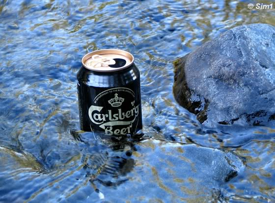 Beer in the river