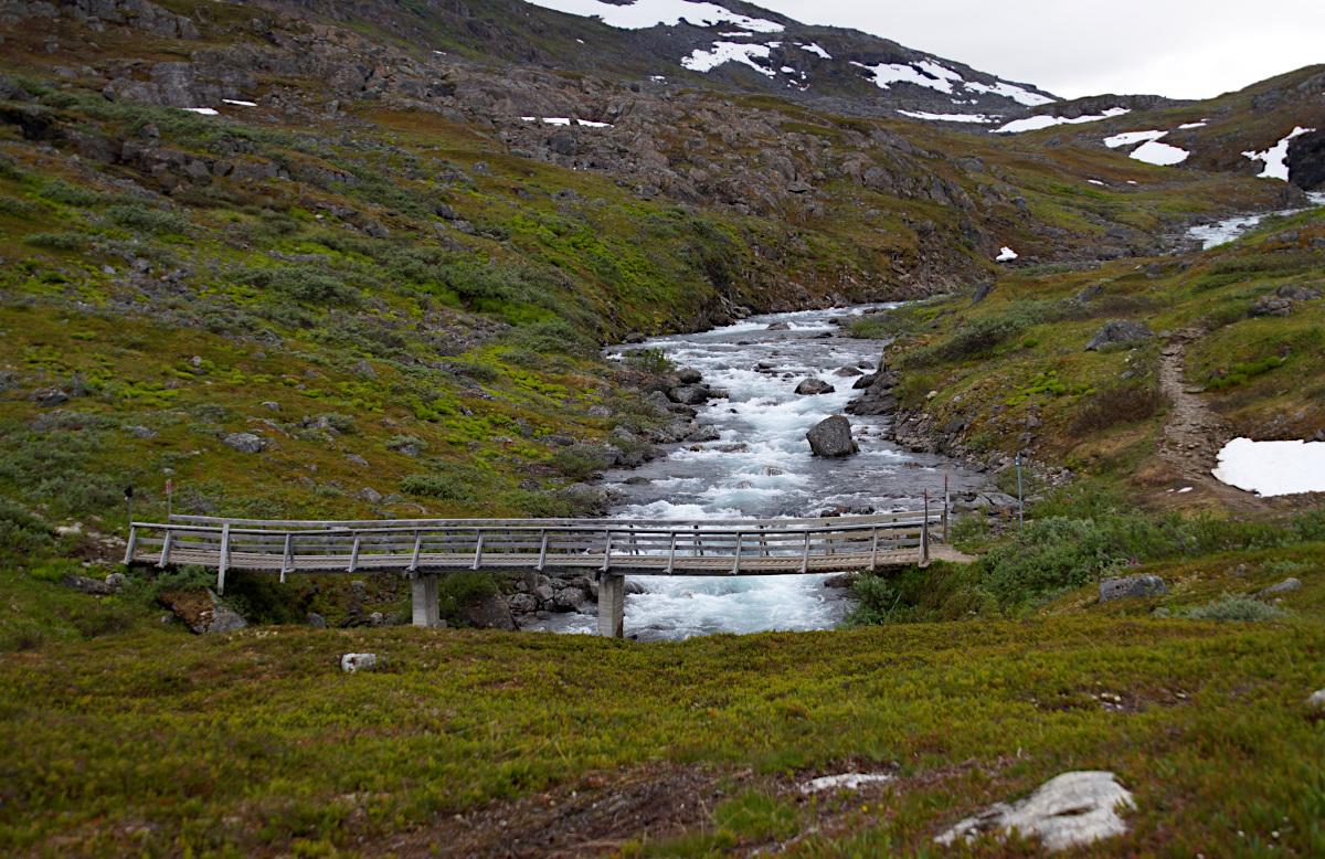 Bridge to the winter trail, Katterjåkk