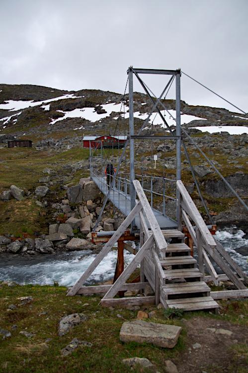 The Suspension Bridge over the Gátterjohka