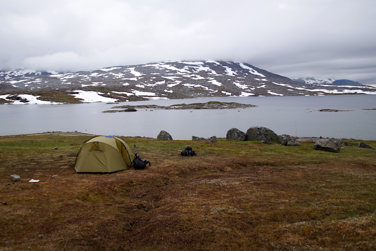 view from the tent