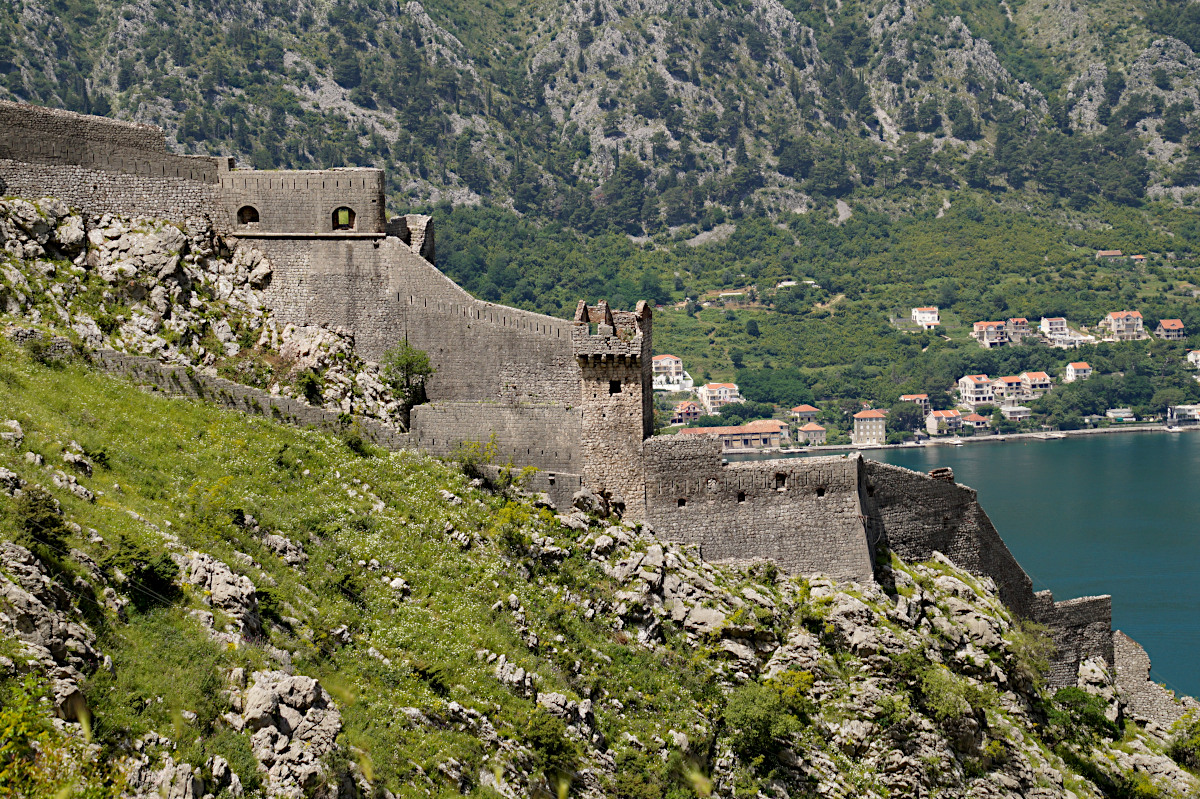 view over the fortifications, Kotor