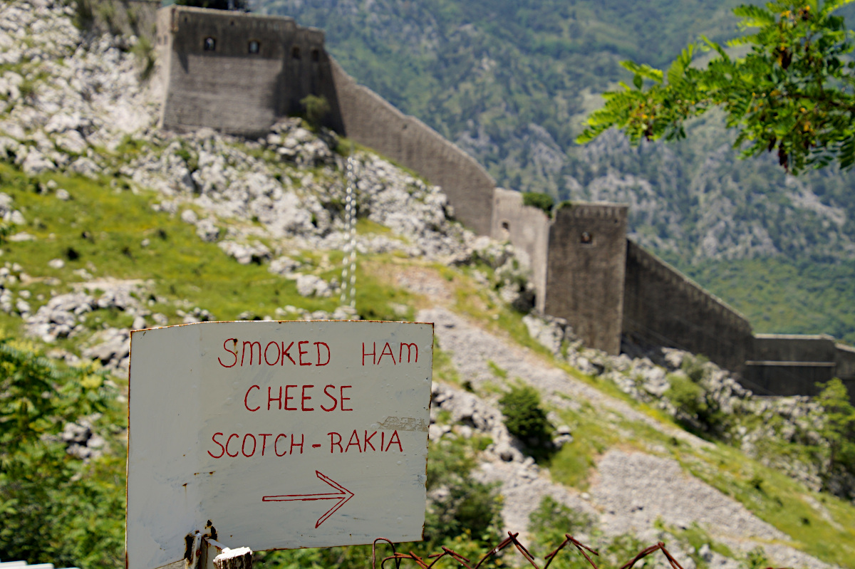 Sign to the Cheese Shop, Kotor