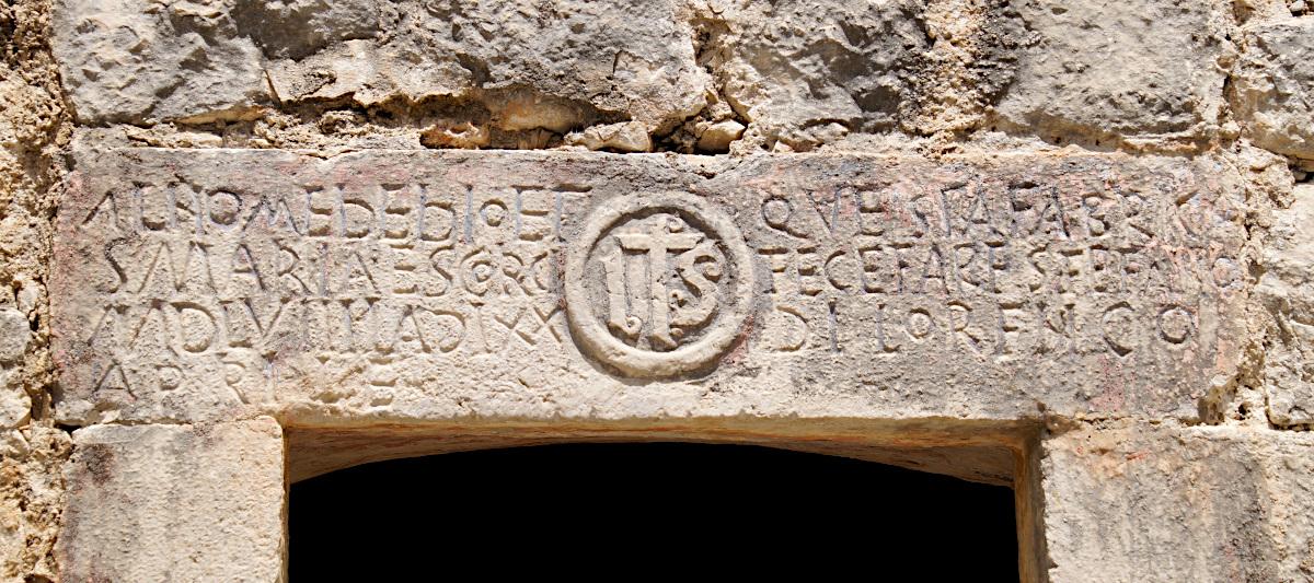 The inscrption above the door, church Saint John, Špiljari