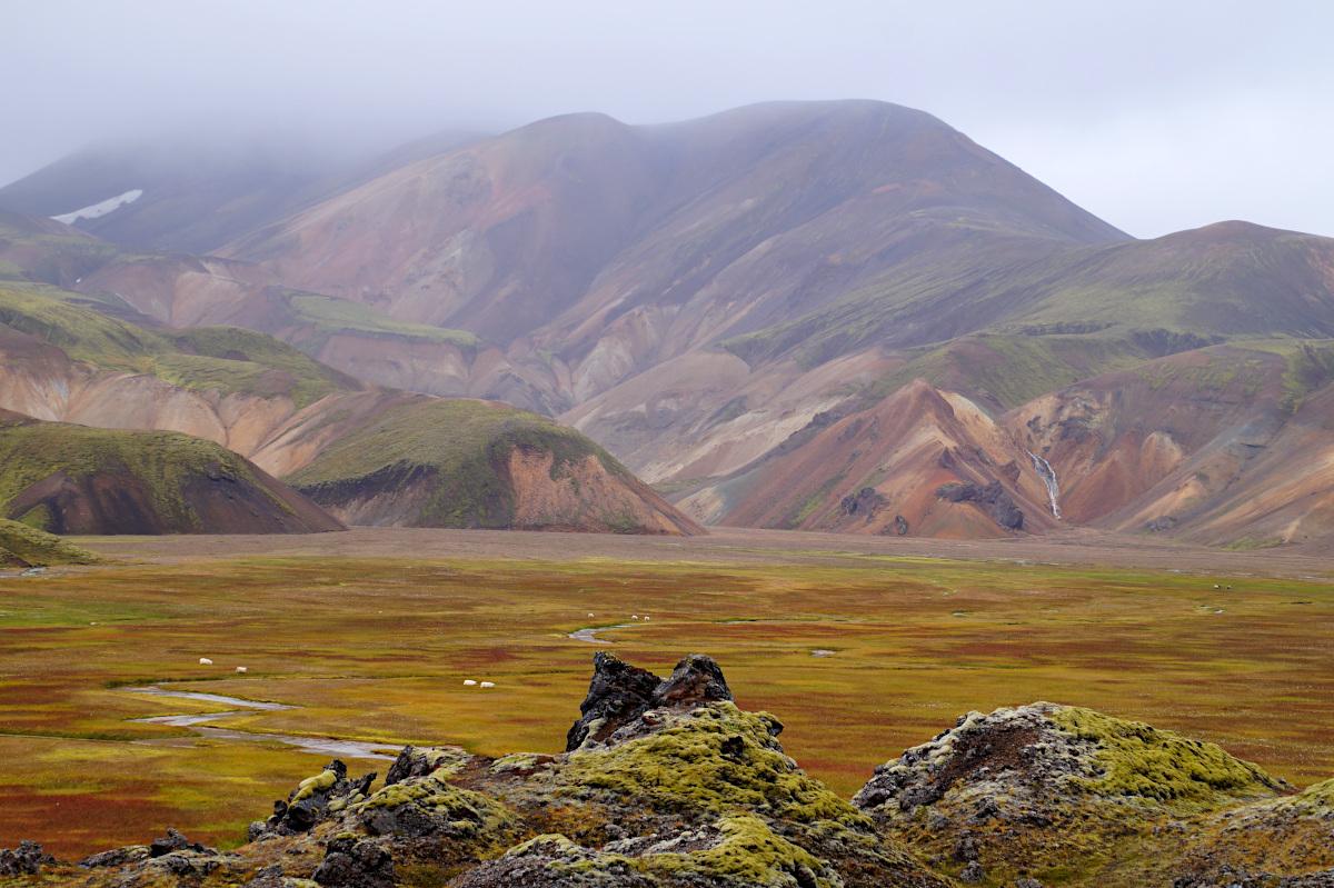 View onto Vondugil, Landmannalaugar