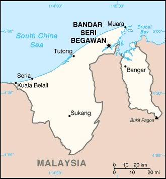Map of Brunei
