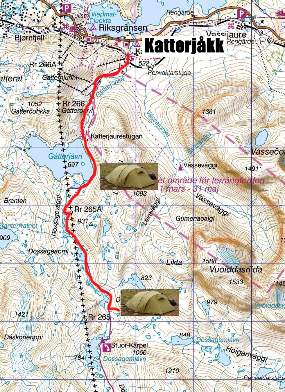 Map Hiking Katterjåkk