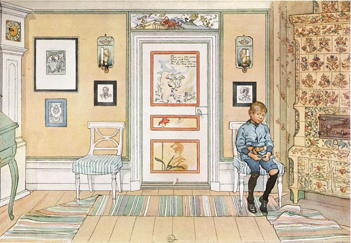 Painting Skamvrån by Carl Larsson