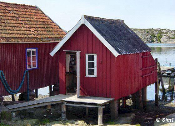 Little boat houses in Stocken