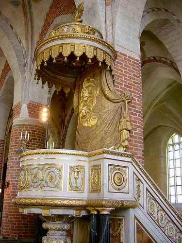The pulpit, Strängnäs Cathedral