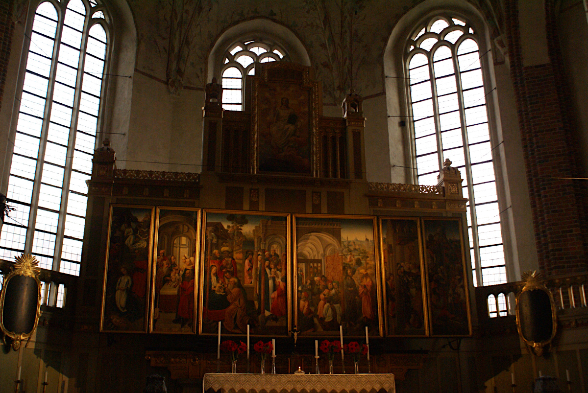 The high altar from 1490