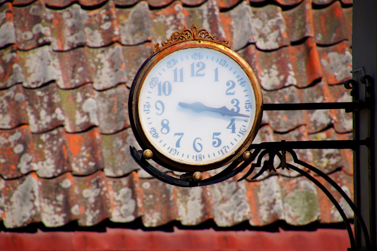 Clock at the Vallby Open Air museum
