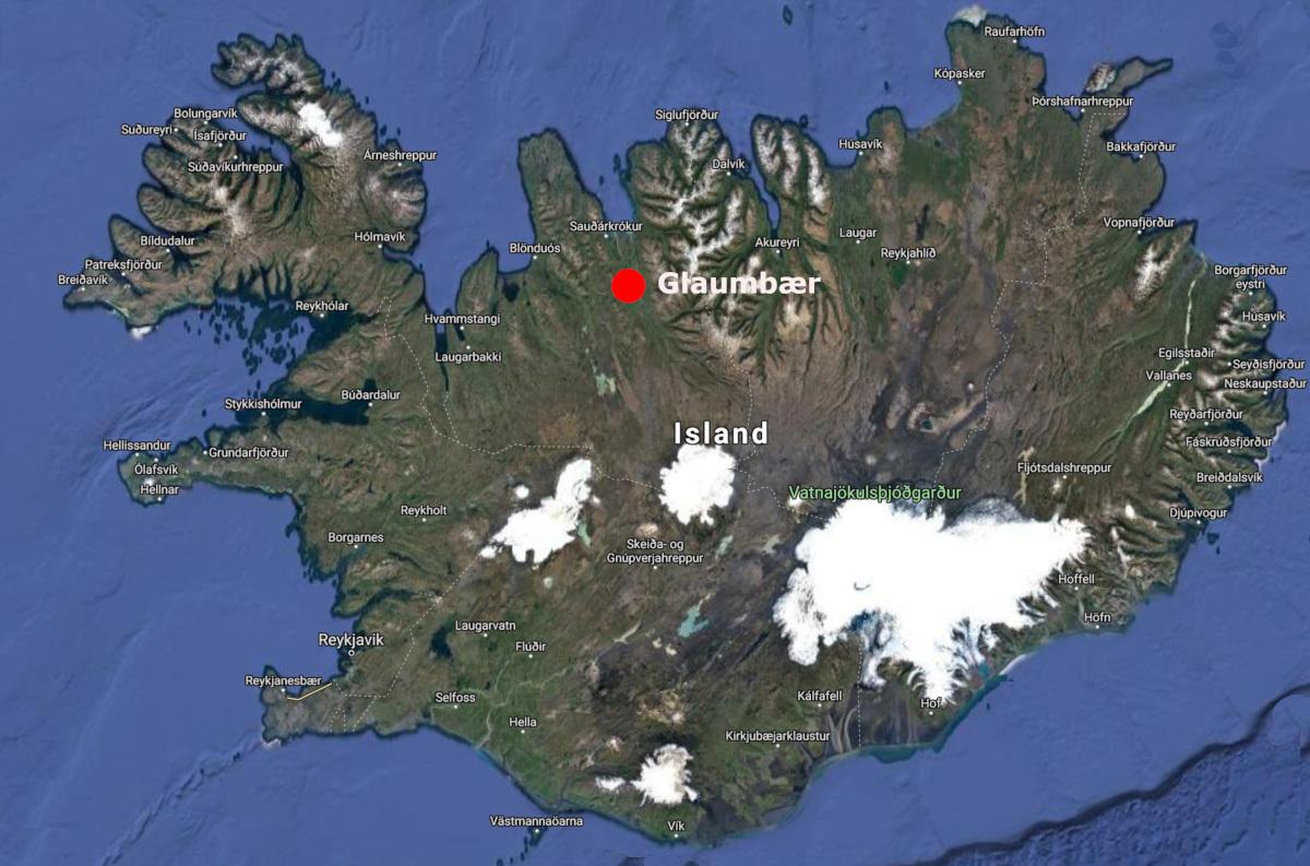 Map Glaumbær