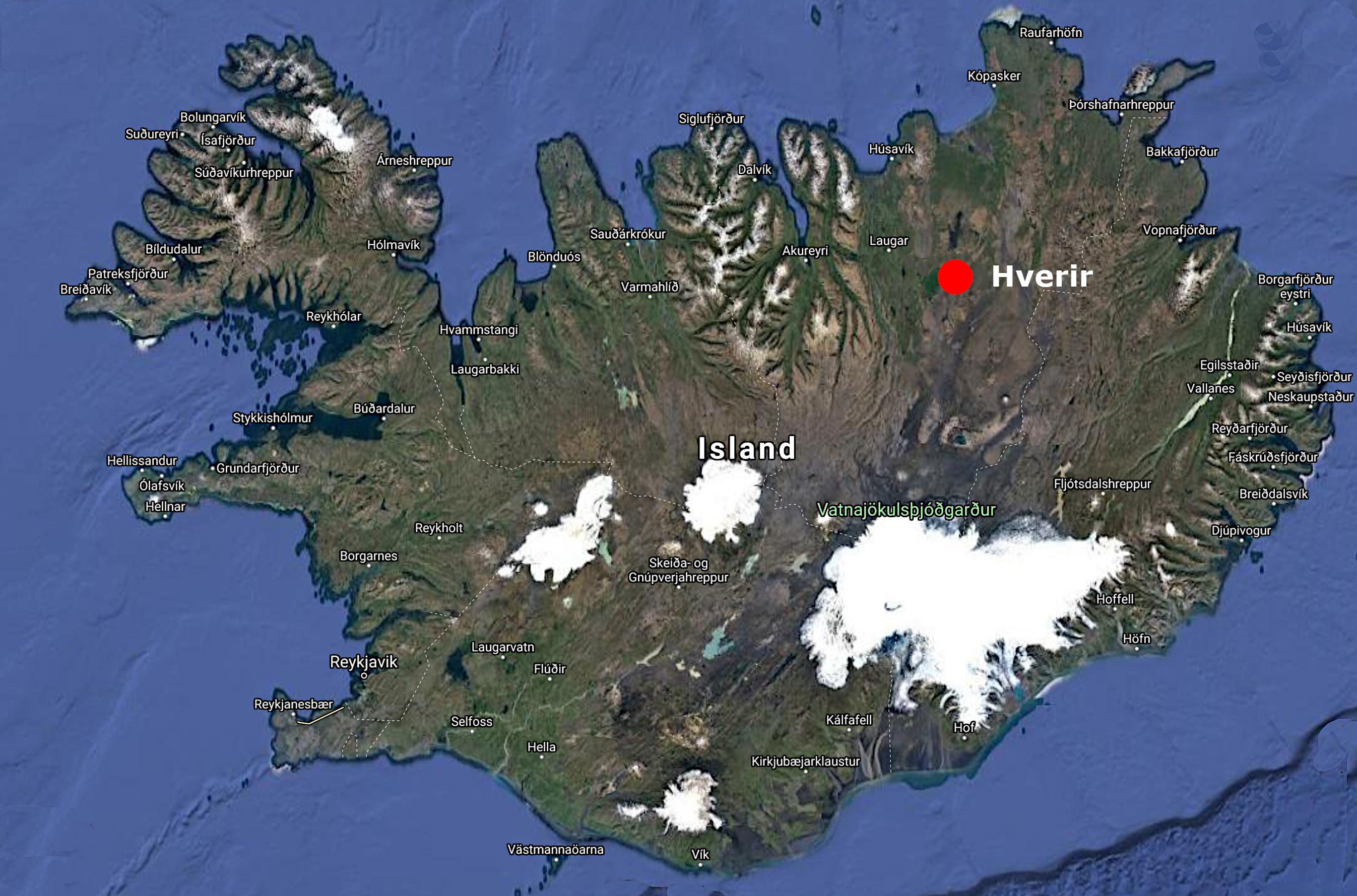 Map Hverir