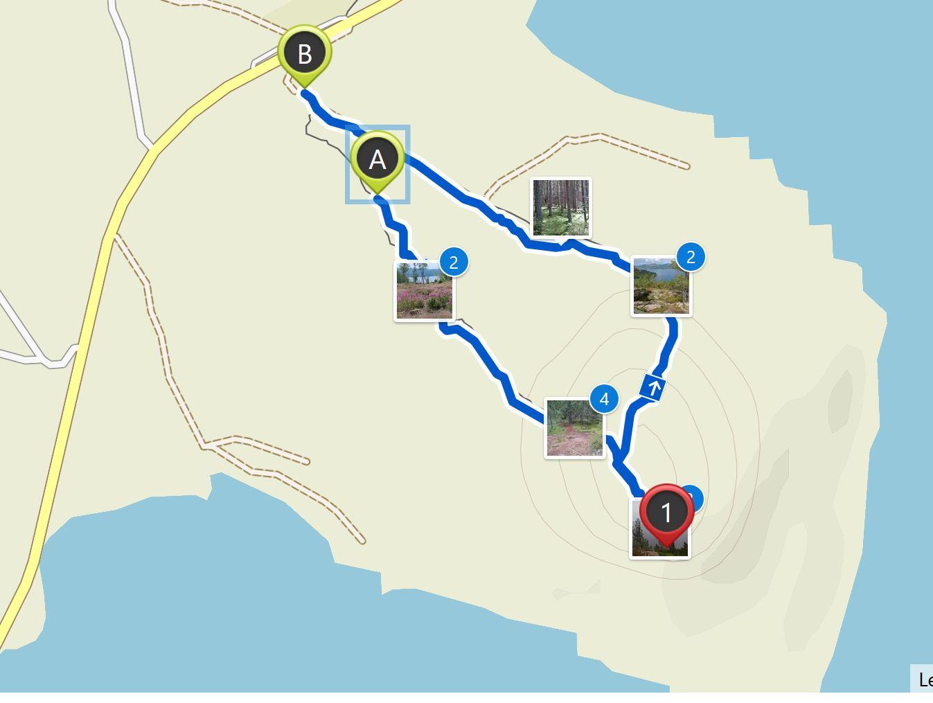 Map Fäberget hike