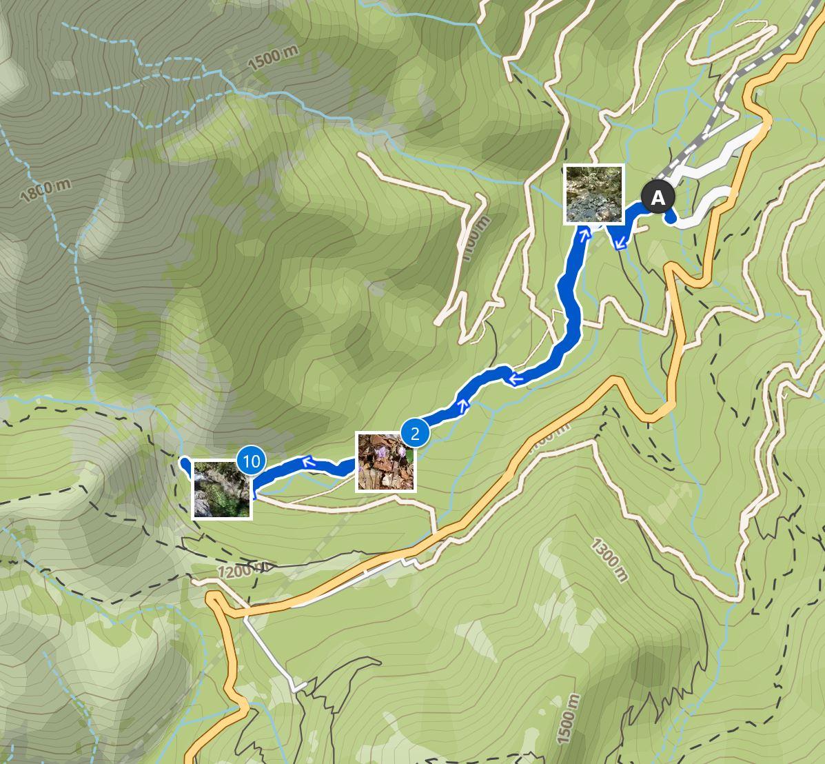 Map Cascade des Anglais hike