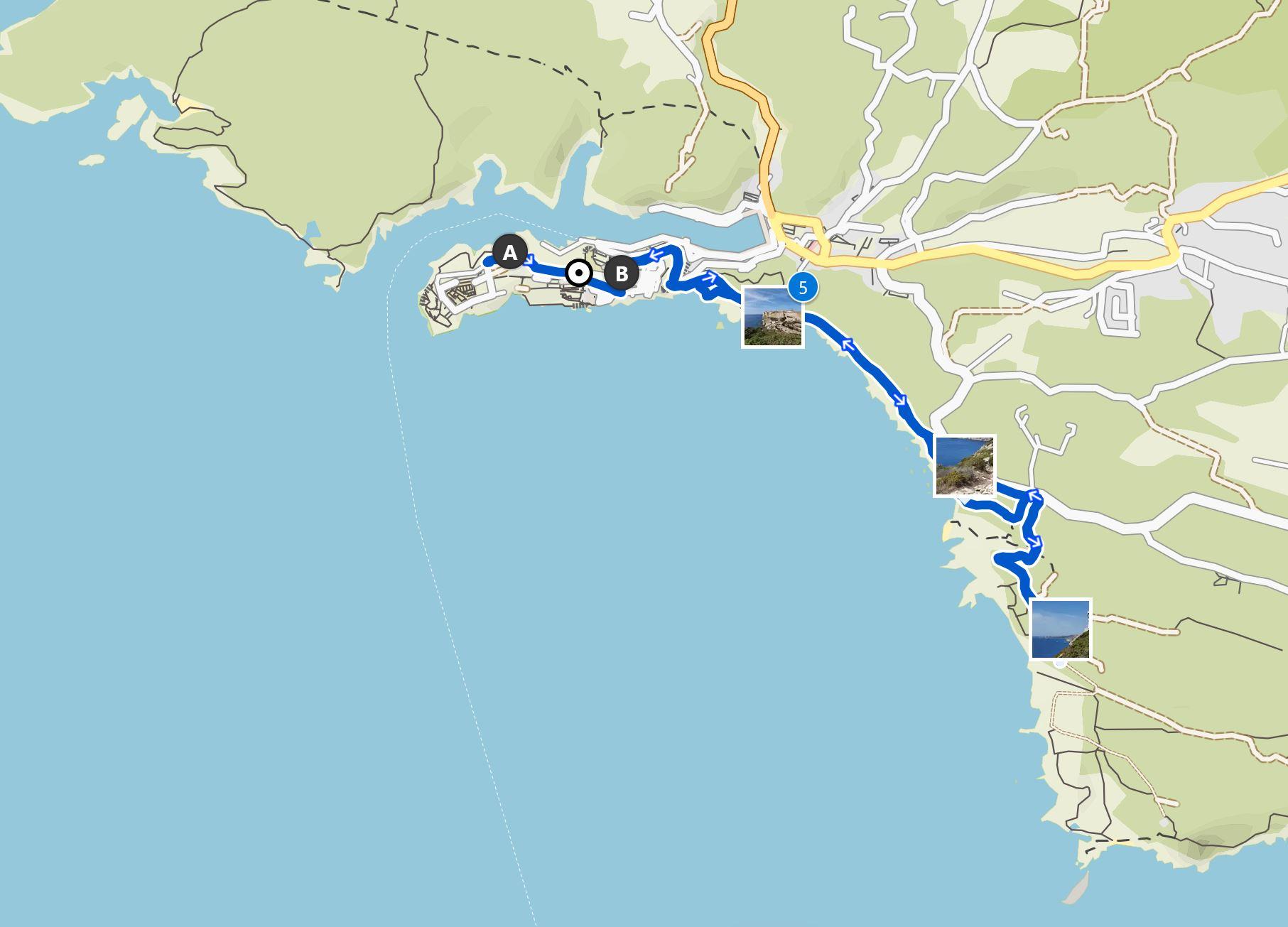 Map Bonifacio hike