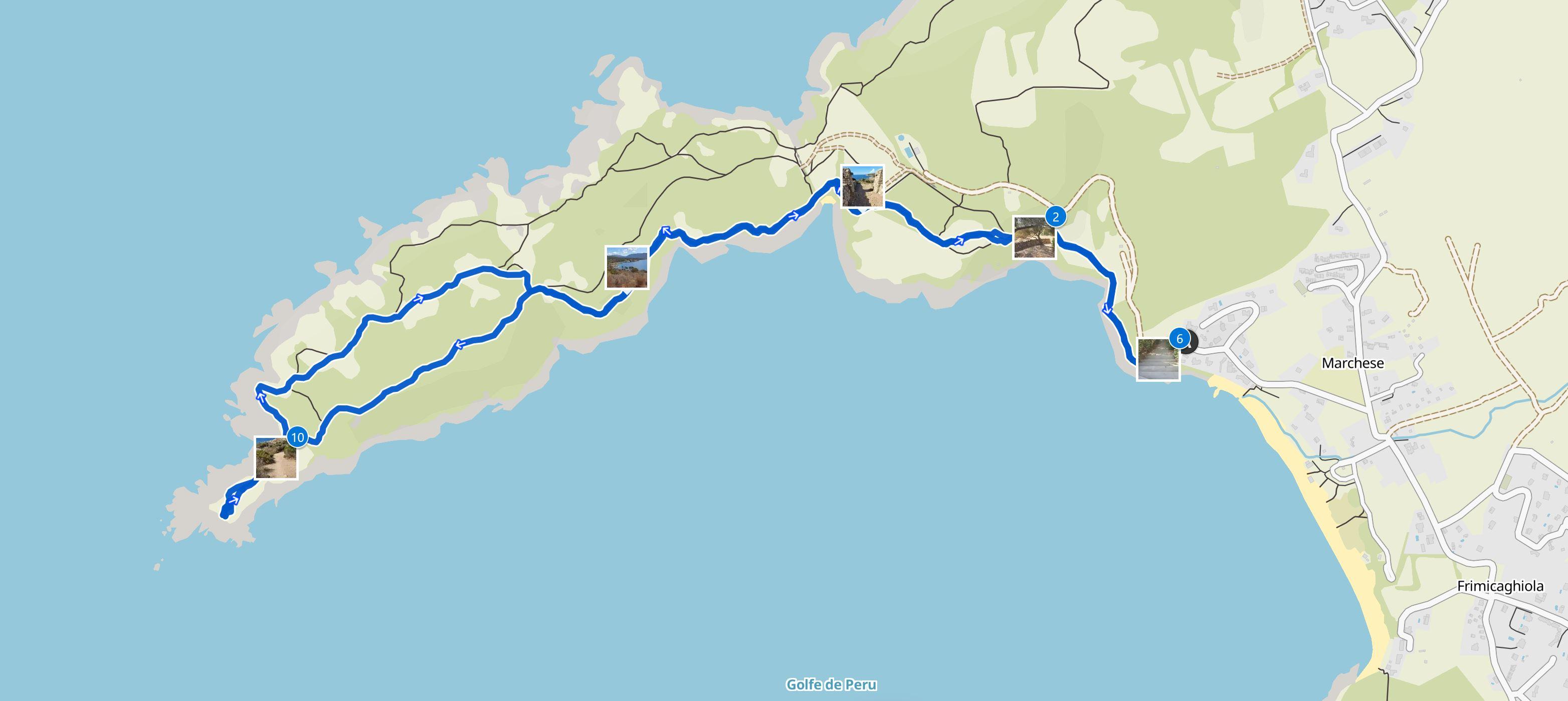 Map  Cargèse hike