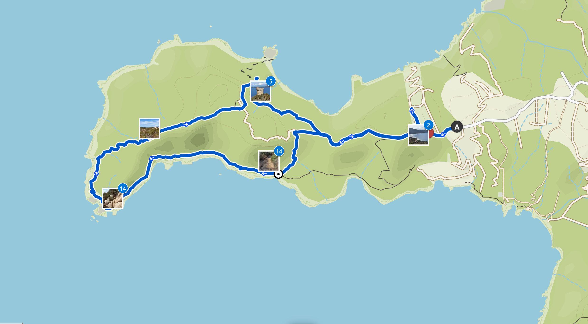 Map Capo di Muro hike