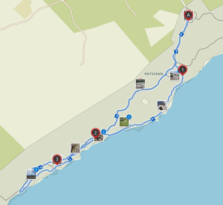Map Rotsidan hike