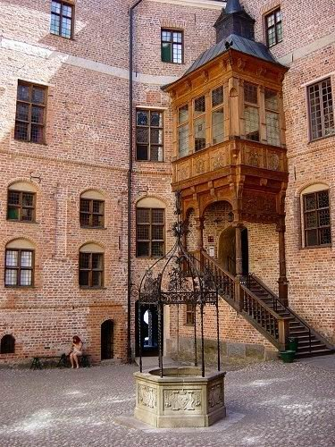 The courtyard at Gripsholm Castle