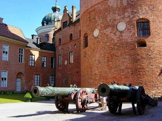 The cannons at Gripsholm Castle