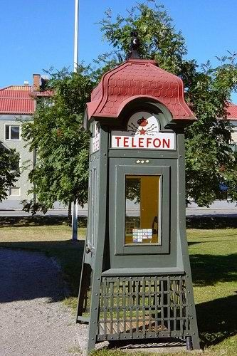 Old fashioned phone booth